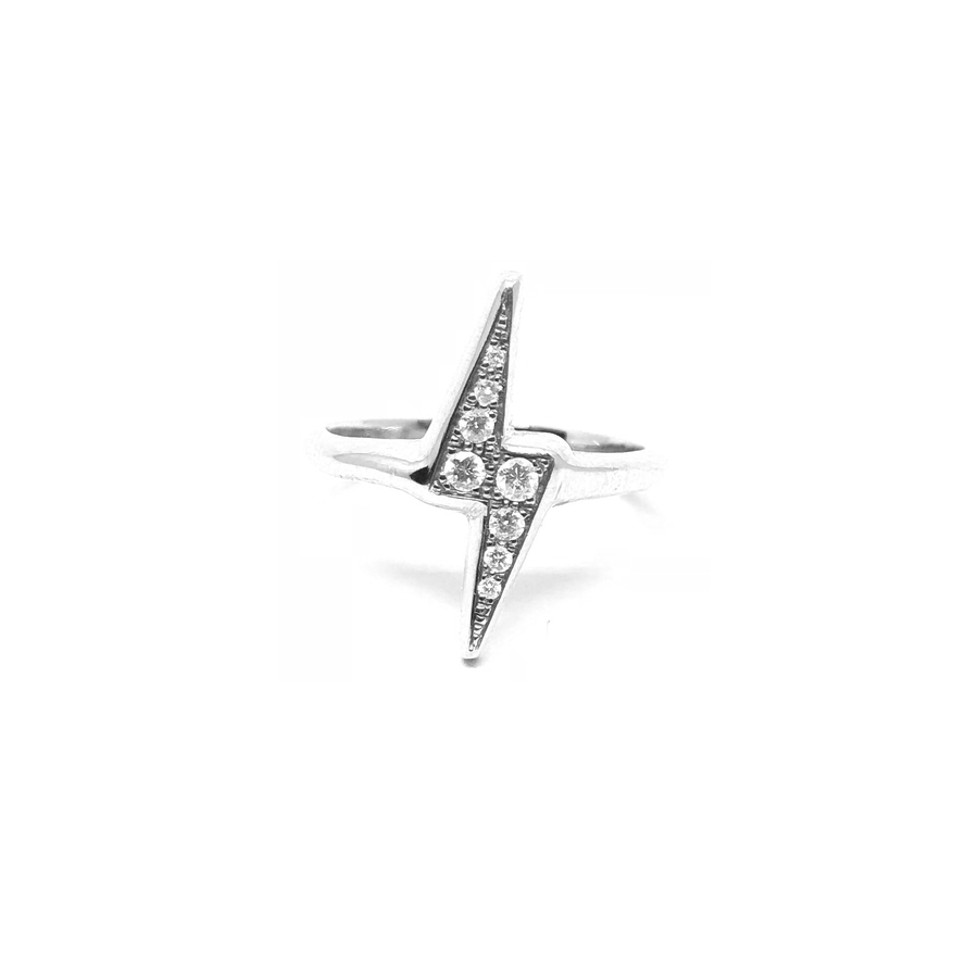Lightning Bolt Diamond Ring