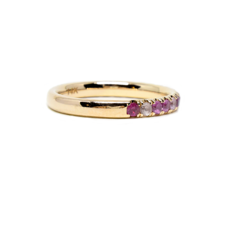 Sapphire & Ruby 1/2 Eternity Ring
