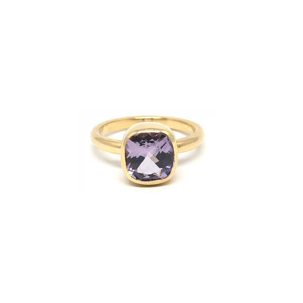Purple Spinel Gemstone Gold Ring