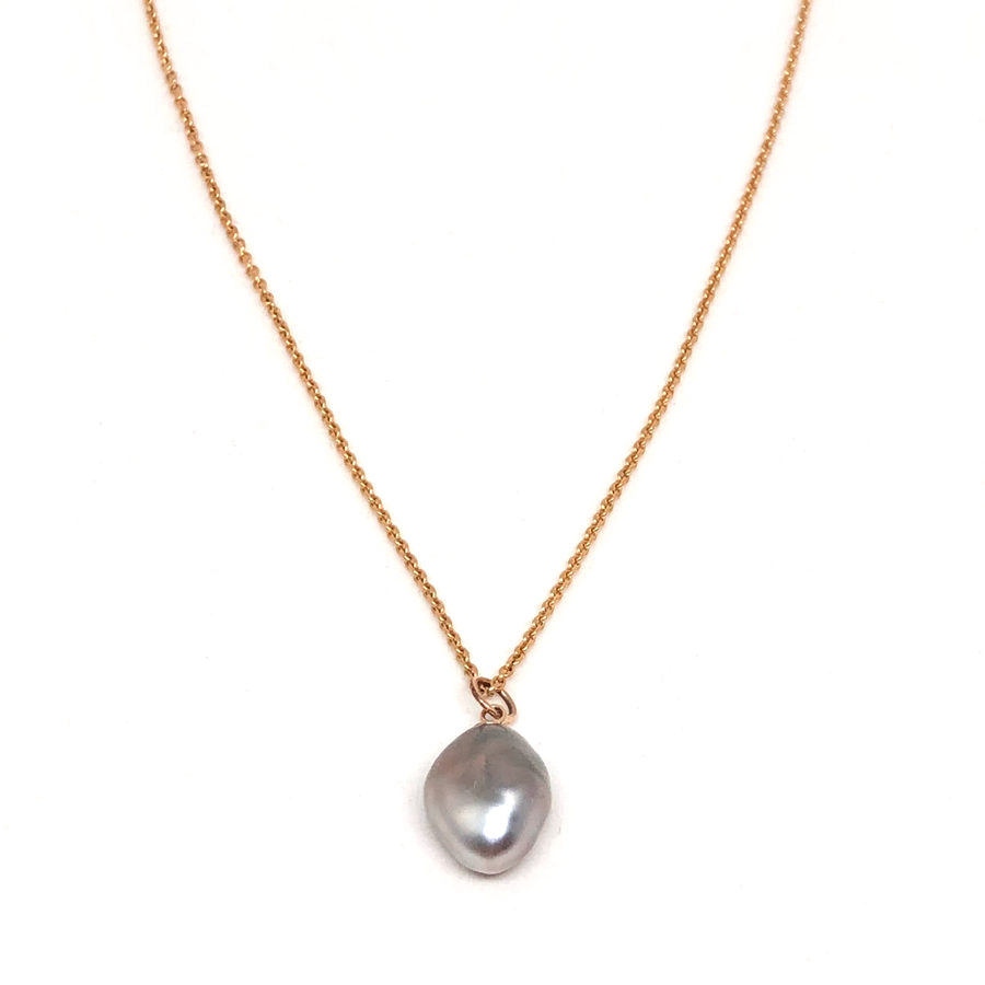 Tahitian Keshi Pearl Gold Necklace