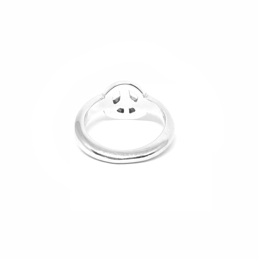 Peace Sign Diamond Ring