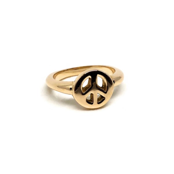 Peace Gold Ring