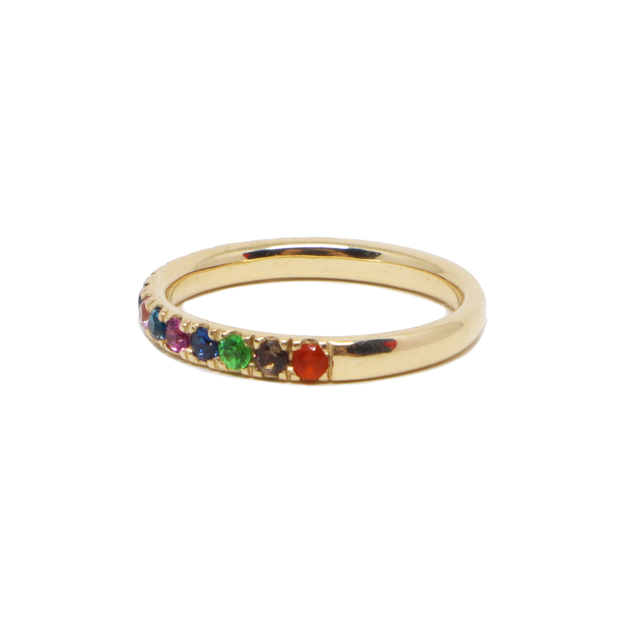 Rainbow 1/2 Eternity Ring
