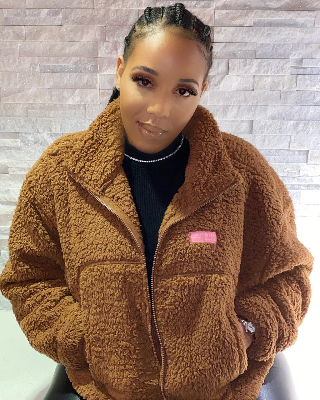 Caramel Apple Cider Teddy Jacket