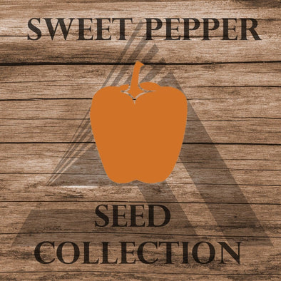 Heirloom Sweet Pepper Assortment - Seed Collection (10 Varieties) Assortment
