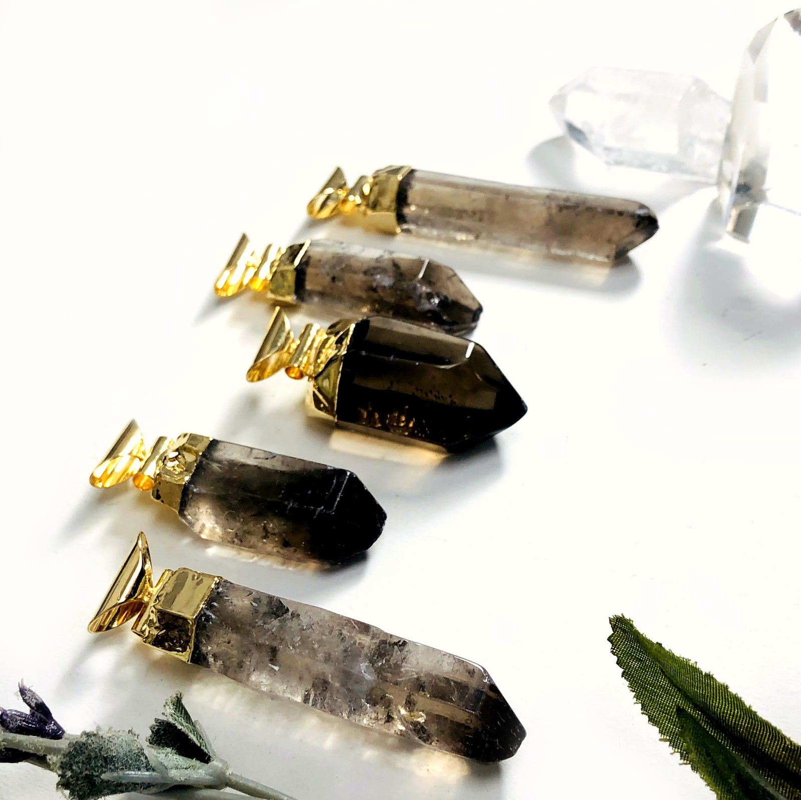 Smokey Quartz Point Pendant (S52B27b-15)