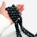 Snowflake Obsidian 12mm Round Beads- 1 STRAND (S45B2-06)