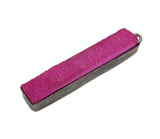 Dyed Hot Pink Colored Druzy Double Bail Pendant -- Oxidized Silver Plated Bezel Bar