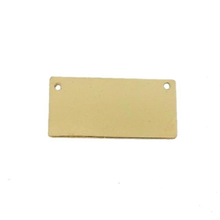 5 or 10 pcs Rectangle Stamping Bar Pendant - Brass Double Bail Bar Pendant (S86B22)