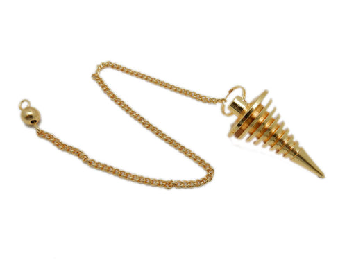 Gold Toned Metal Thick Spring Pendulum