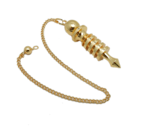 Gold Toned Metal Isis Pendulum