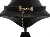 Black Leather Choker with Sterling Pendant and Accents