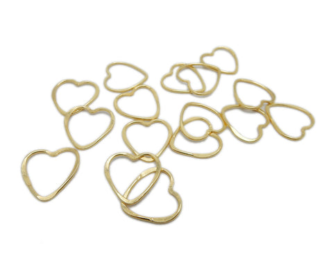 Heart Pendant -- Gold Plated Heart Charm