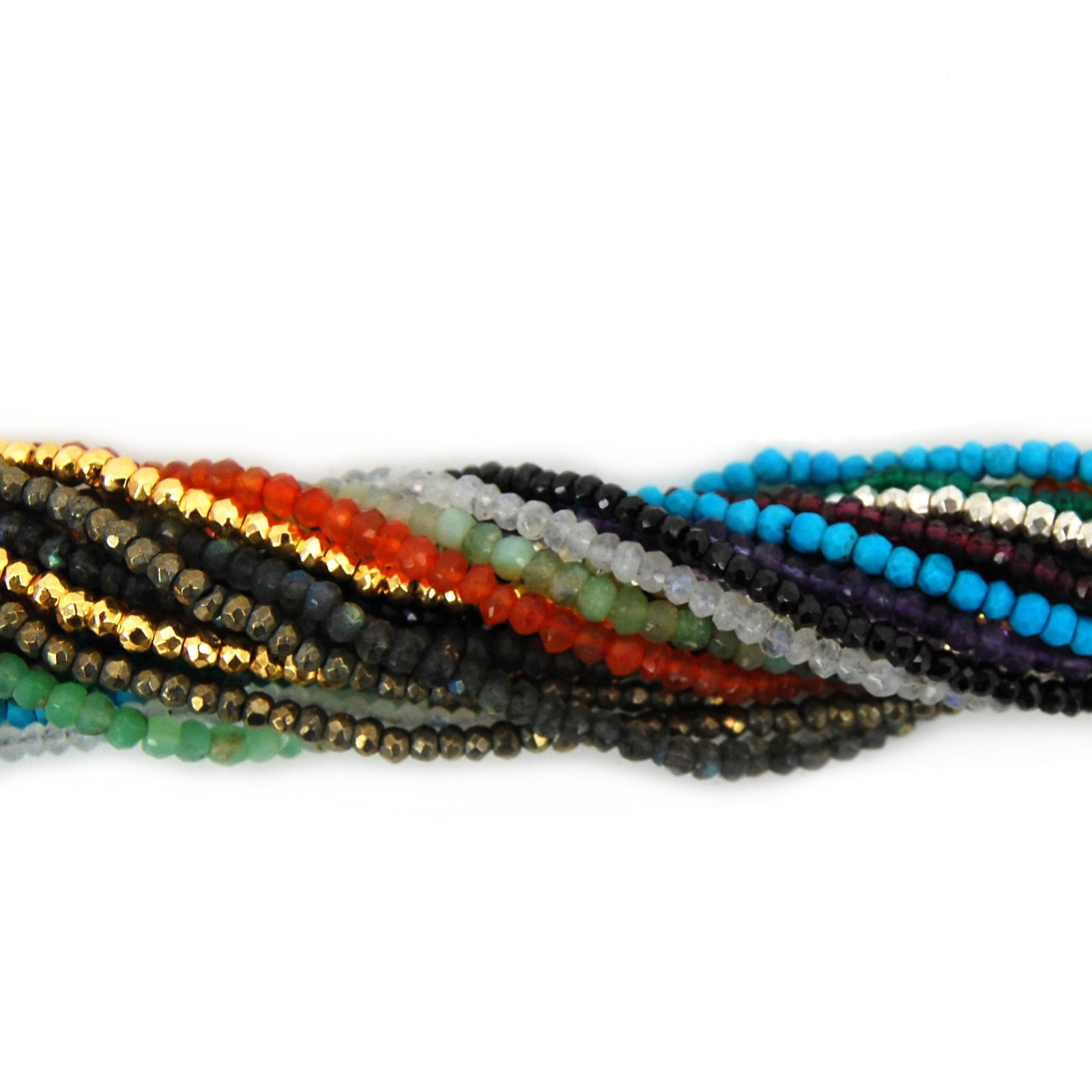 "Gemstone Beaded Chain - 24"" Finished - YOU CHOOSE 3-4mm Stone Beads with Lobster Clasp (S92B5)"