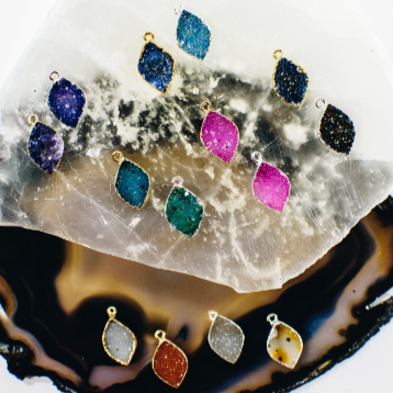 Druzy Marquise Shape - Assorted Colors to Pick from (S68B22)