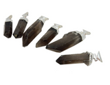 Large Smokey Quartz Point Pendant with Fancy Bail and Electroplated Silver Cap and Bail (S66B19-03)