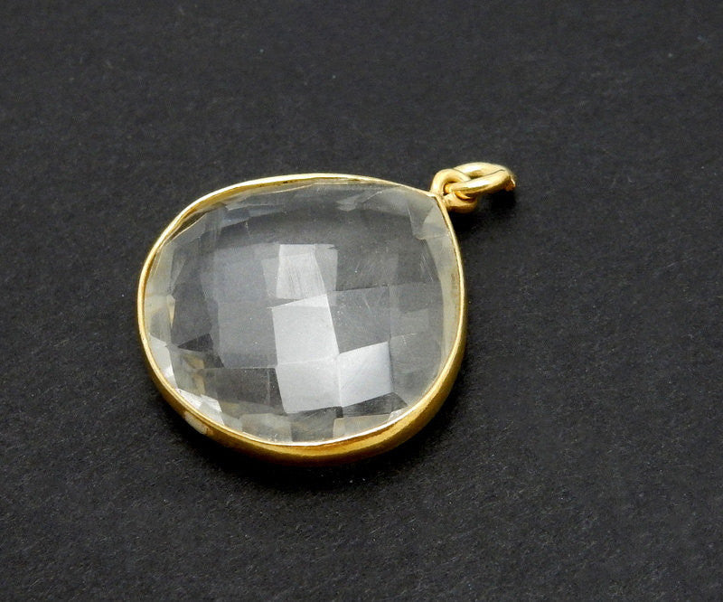 Bezel Overstock Sale Crystal Quartz Drop Bezel - 19mm