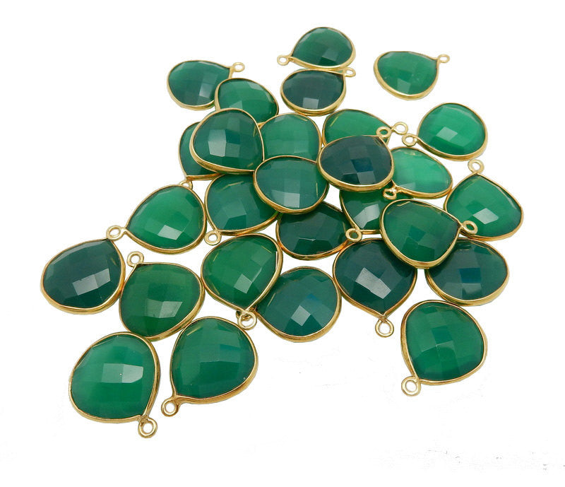 Bezel Overstock Sale Green Onyx Drop Bezel - 14mm