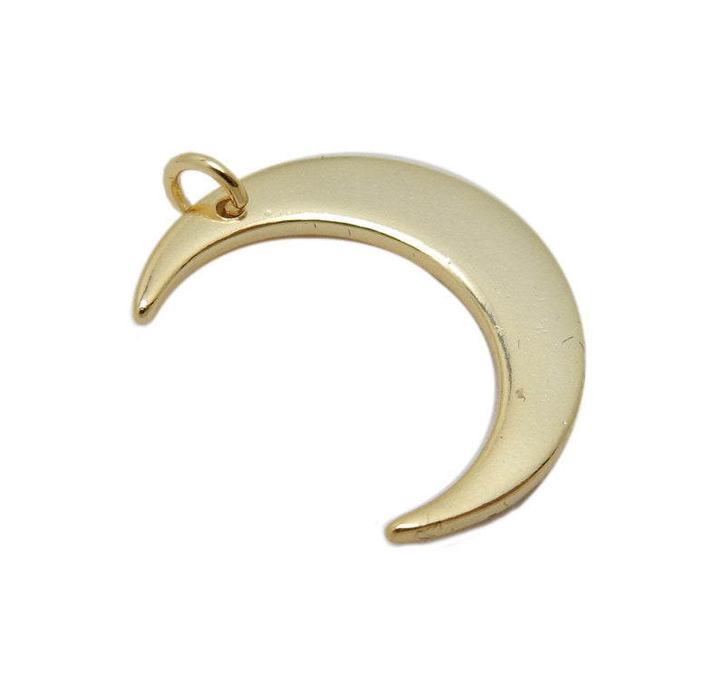 Petite Gold Over Sterling Silver Crescent Moon Pendant (LA-178)