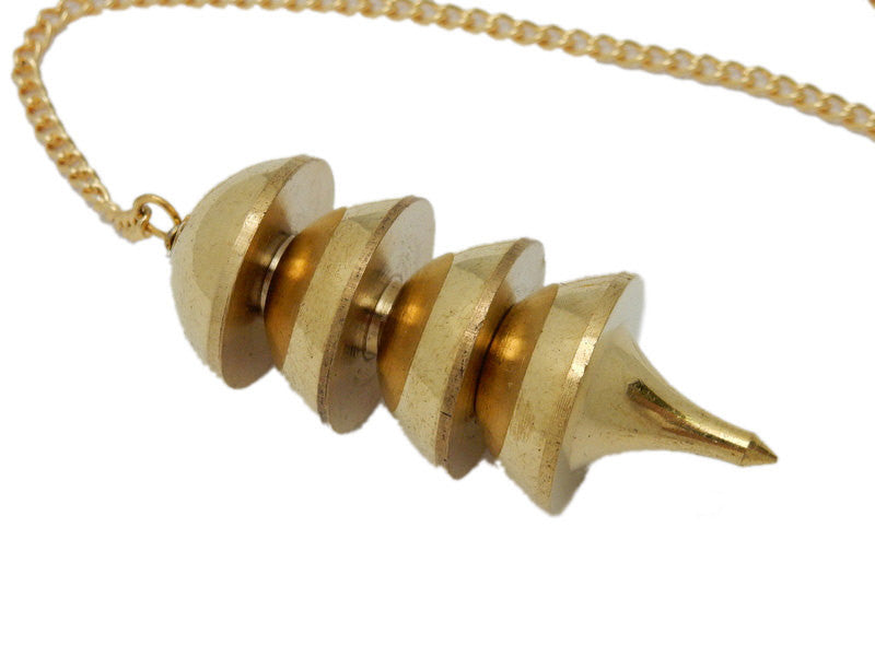 Gold Toned Metal Big Osiris Pendulum (S68B11-04)