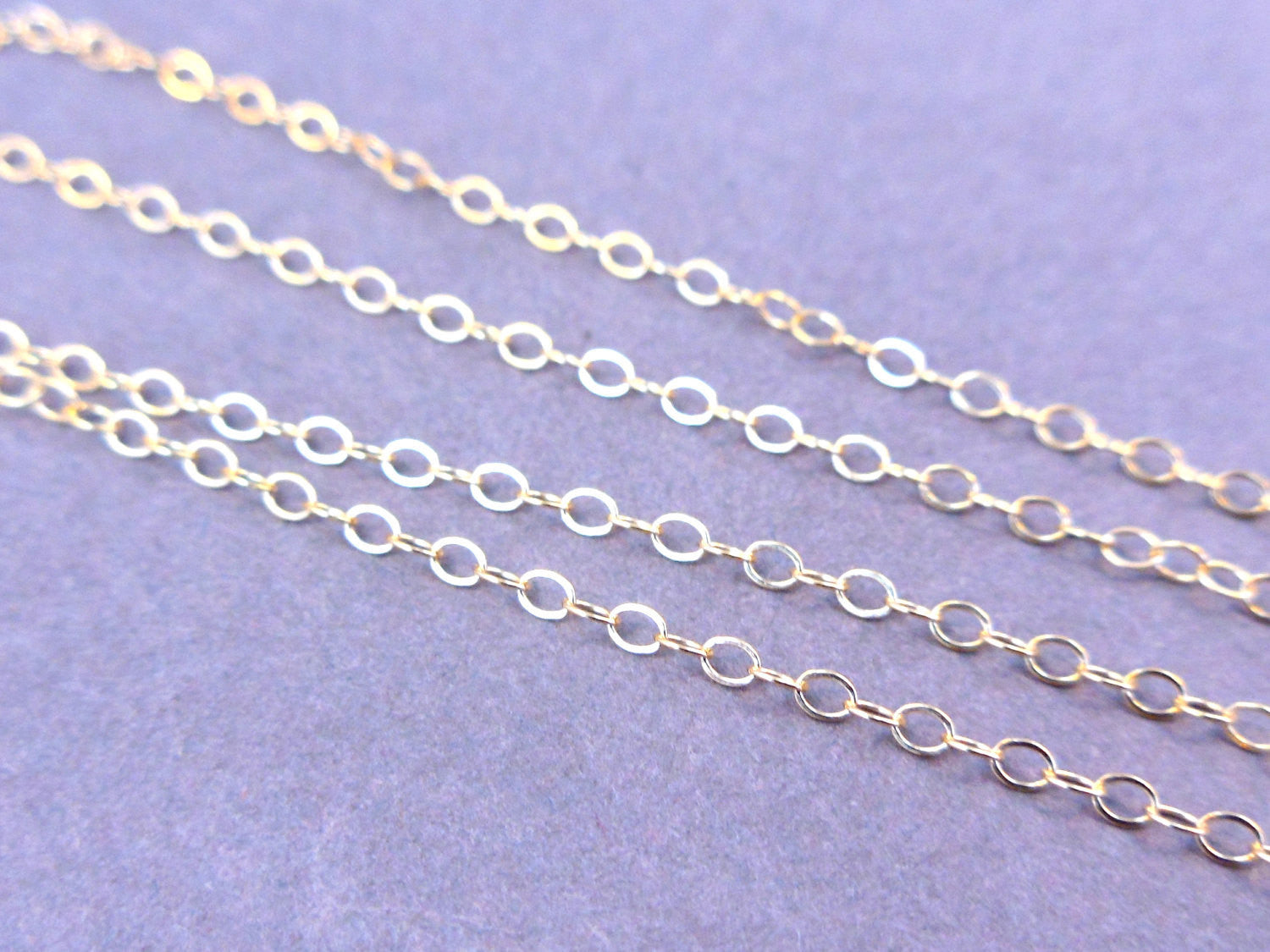 "14 kt. Gold Fill Chain Finished 18"" Flat Cable 1.3mm"