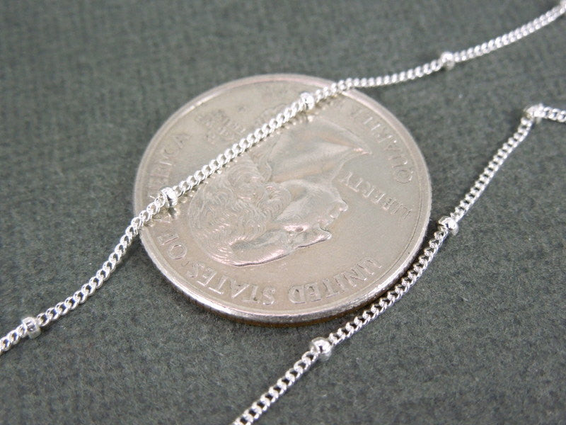 "Sterling Silver Satellite Chain- Sterling silver Satellite 30"" finished chain"