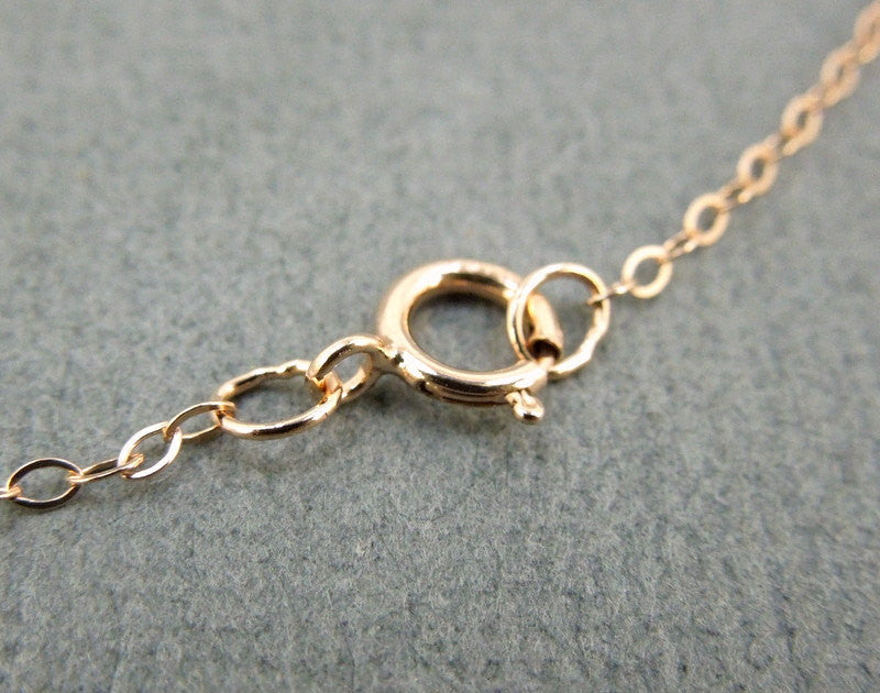 "Rose Gold Fill Chain Finished 16"" Flat Cable 1.3mm"