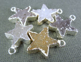 DruzyStar Charm Pendant with Electroplated Sterling Silver edge (DZ-12)
