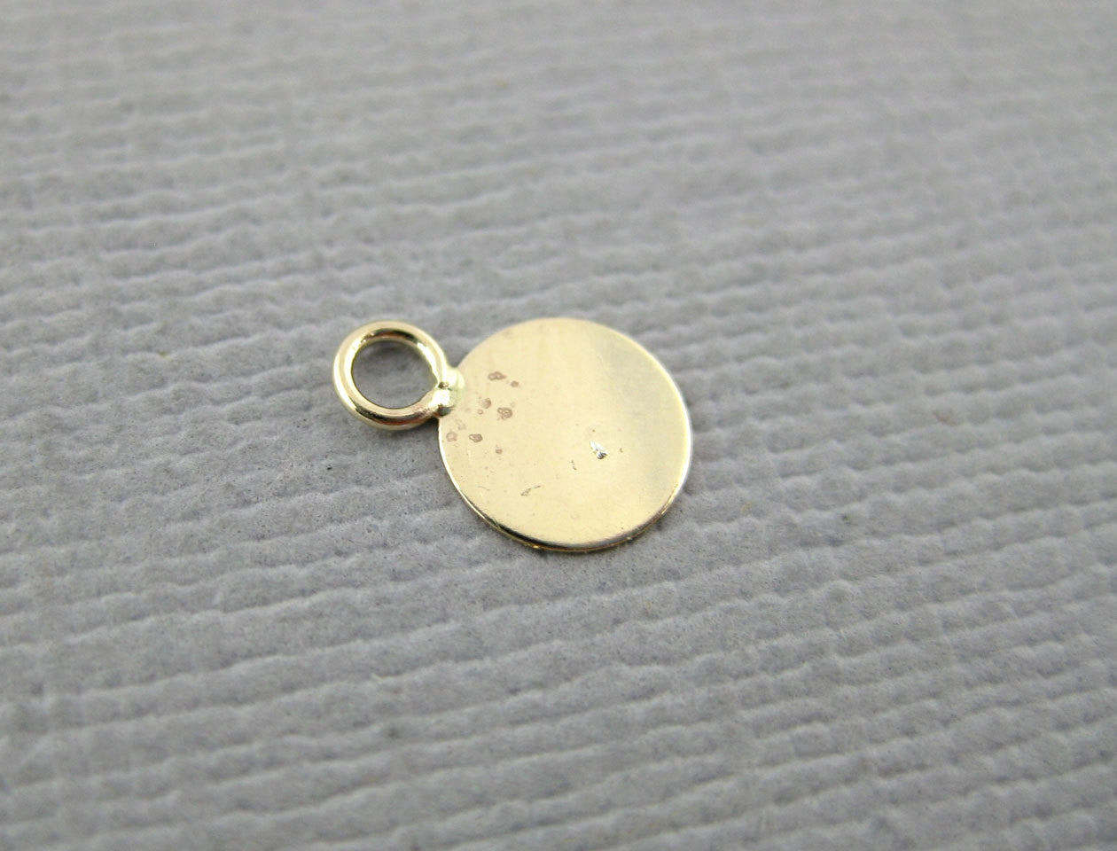Gold Filled Charm-- Tiny 5mm Gold Filled Flat Round Charm-- 2 CHARMS  (CN-03)