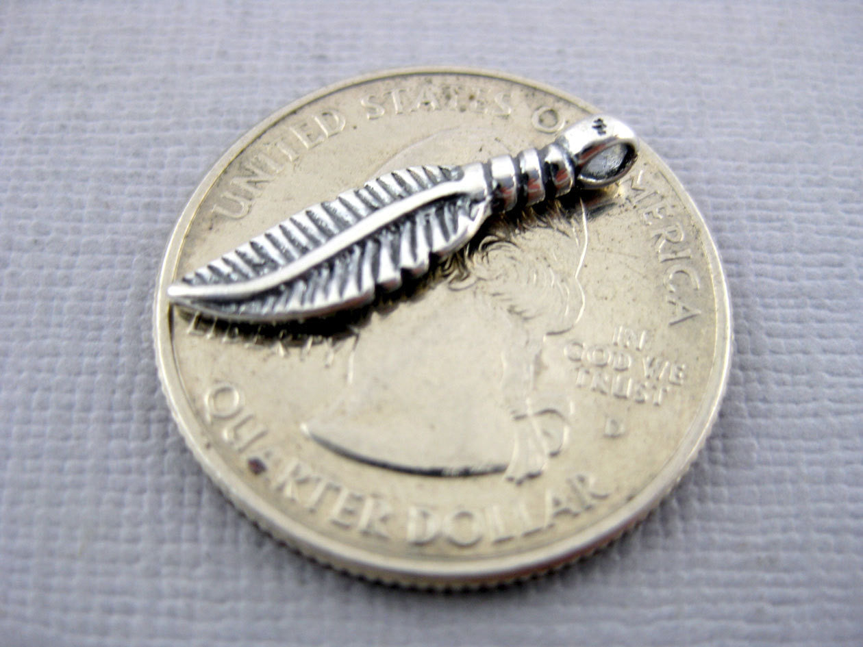 Sterling Silver Feather Charm Pendants