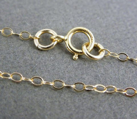 "Gold Fill 14kt Chain Finished 30"" Flat Cable 1.3mm"