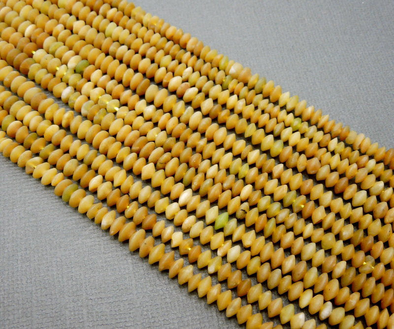 Tan Agate Beads-- Tan Agate 5mm x 2mm Rondelle Beads -- ONE Full Strand