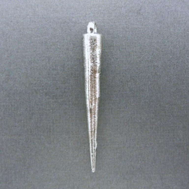 5 pcs Spike Pendant 34mm with Silver-Toned - Bulk of 5 - (S51B5-02)