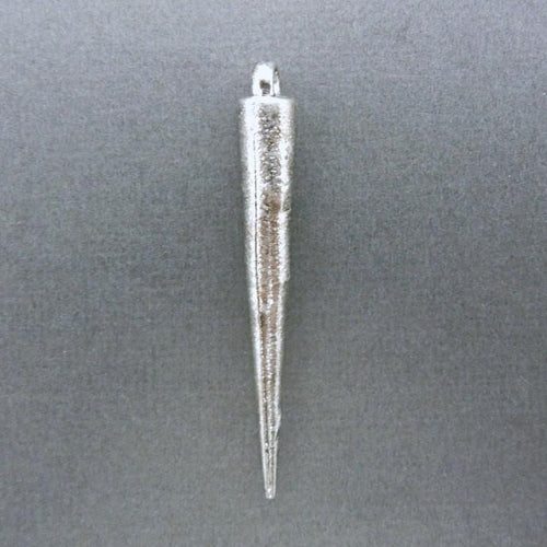 5 pcs Spike Pendant 52mm Silver Toned Brass- Bulk of 5 - (S51B5-03)