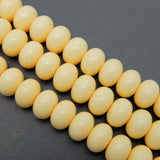 Yellow Colored Round Bead - 14mm Yellow Colored Round Beads- 1 STRAND (S52B1-03)