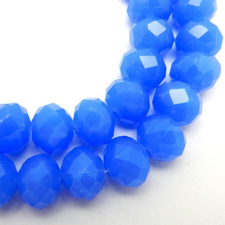 Blue Large Chinese Crystals Bead Strand - 1 STRAND (S55B11-01)