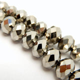 Titanium Dipped Chinese Crystal Beads - 10mm Large Stunning Silver Beads - 1 STRAND (S55B11-04)