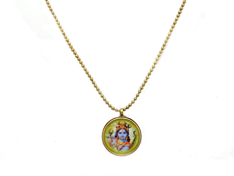 "Lakshimi Bagwati Goddess Brass 31"" Necklace (S55B23)"