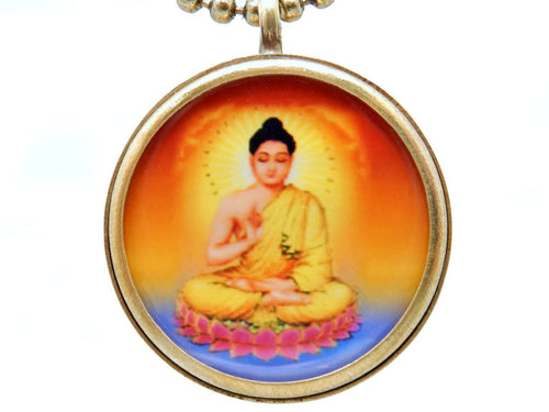 "Buddha Brass 31"" Necklace (S55B22)"