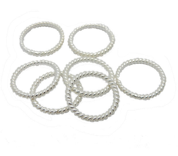 Jumprings Sterling Silver Closed Twisted Jump Rings