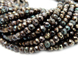 "Mystic Coated Chinese Crystal Brown Rondelle Beads - 1 STRAND 13"" Long"