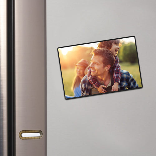 Magnetic Picture Frame with Clear Pocket, 5 x 7 Inches Refrigerator Photo Holder for Fridge Office Cabinet Locker, Black - Pack of 15 - Magicfly