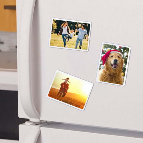 Magnetic Picture Frame with Clear Pocket, 2.5'' x 3.5'' Refrigerator Photo Holder for Fridge Office Cabinet Locker, White - Pack of 15 - Magicfly