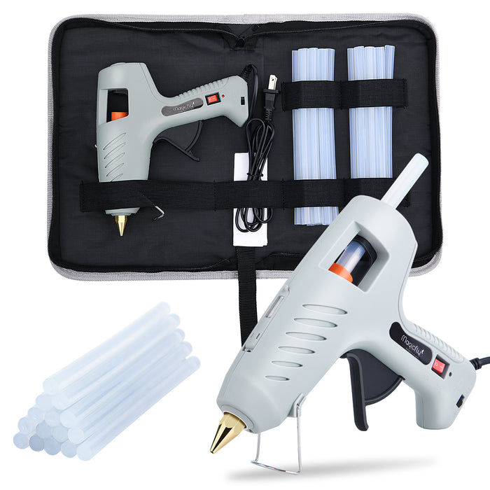 Magicfly 60/100W Hot Glue Gun for Full Size with LED Light and 15 Pcs Full Size Hot Glue Sticks (0.43 X 7.8 inch)