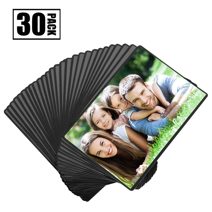 Magnetic Picture Frame with Clear Pocket, 4 x 6 Inches Refrigerator Photo Holder for Fridge Office Cabinet Locker, Black - Pack of 30