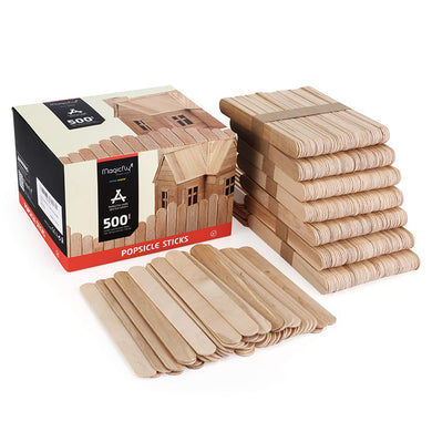 Wooden Jumbo Craft Sticks-500Pcs, 6
