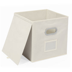 Magicfly Foldable Storage Bins with Label Holders, Beige