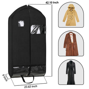 "Magicfly 42"" Garment Bags with Zipper Pockets for Suits, 2 packs - Magicfly"