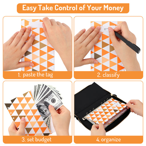 Waterproof & Lightweight Cash Envelope Wallet, All-in-One Budget System Wallet with 12 Budget Envelopes& Budget Sheets & Labels - Magicfly