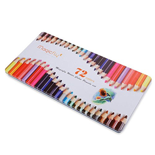 Magicfly 72-Colored Drawing Pencil Set- Soft Core Art Watercolor Pencil - Magicfly